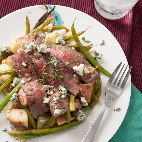 Flank Steak, Haricot Vert, and Potato Salad