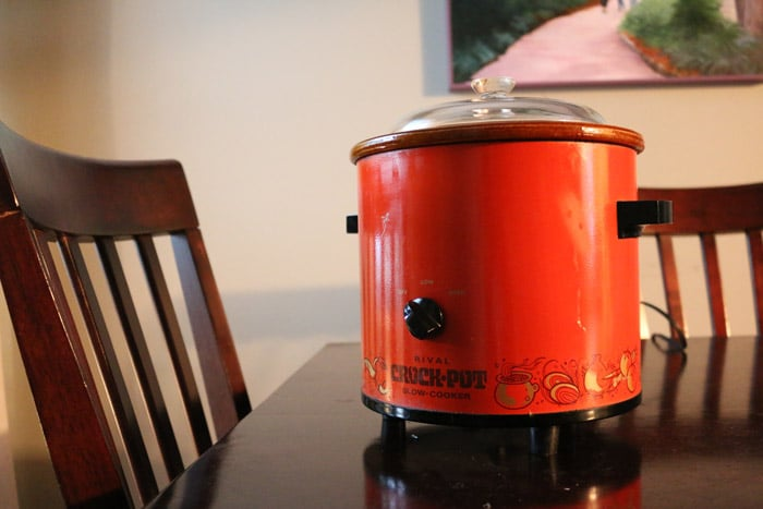 Orange Vintage Rival Crockpot