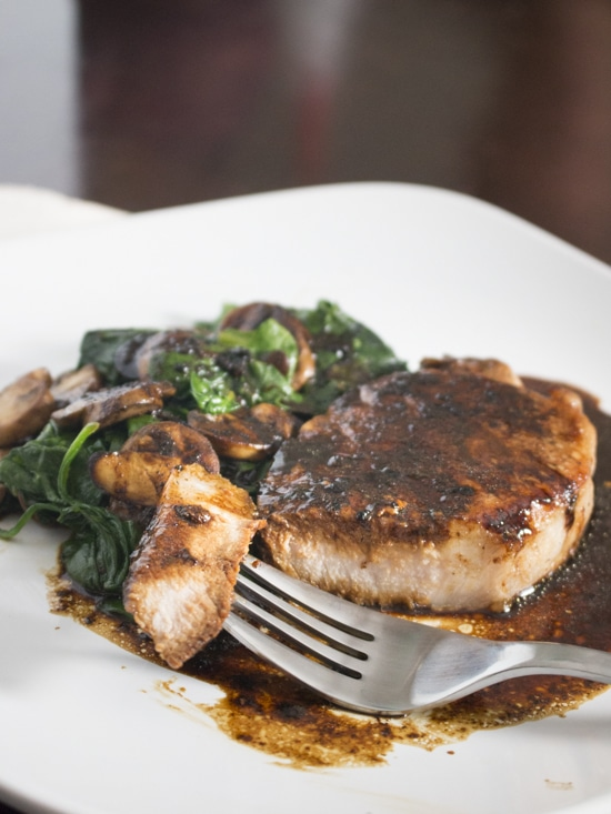 With no cutting board, no measuring, no ingredient prep, and only one skillet, one pan pork chops make the ultimate easy weeknight meal.