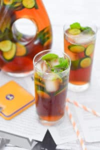 27 Herb-Infused Drinks to Prove Herbs Have a Sweet Side | At-Home Spa Tea Water with Cucumber & Mint from Luci's Morsels