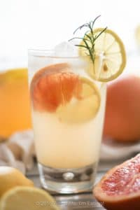 27 Herb-Infused Drinks to Prove Herbs Have a Sweet Side | Grapefruit Rosemary Lemonade from Pinch Me, I'm Eating!