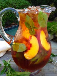27 Herb-Infused Drinks to Prove Herbs Have a Sweet Side | Iced Saffron Tea with Peach and Basil from Ciao Florentina