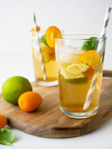 27 Herb-Infused Drinks to Prove Herbs Have a Sweet Side | Kumquat Basil Ginger Limeade from Plated Cravings