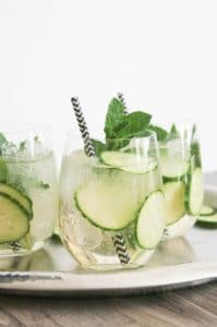 27 Herb-Infused Drinks to Prove Herbs Have a Sweet Side | Cucumber Mint Vodka Sparklers from Domesticate Me