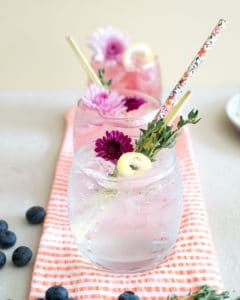 27 Herb-Infused Drinks to Prove Herbs Have a Sweet Side | Lemongrass Thyme Summer Fizz with Fresh Blueberry Juice from Vigor and Sage