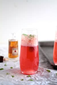 27 Herb-Infused Drinks to Prove Herbs Have a Sweet Side | Raspberry Basil Bourbon Spritzers from Life as a Strawberry
