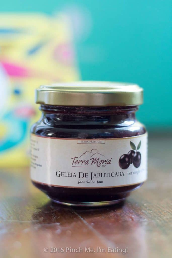 Jabuticaba jam, from Try the World's Brazil box. Use it for these bite-sized jam and brie tartlets! | www.pinchmeimeating.com