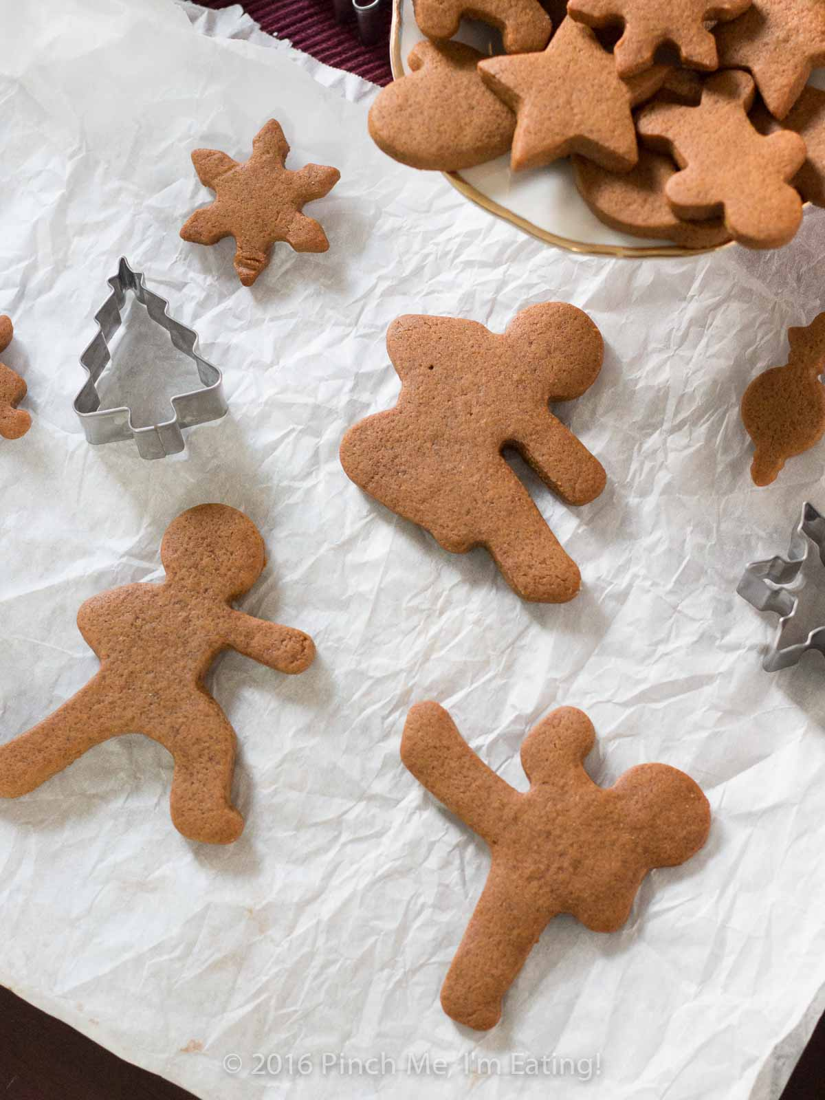 Ninja-shaped chewy gingerbread men, or ninjabread men
