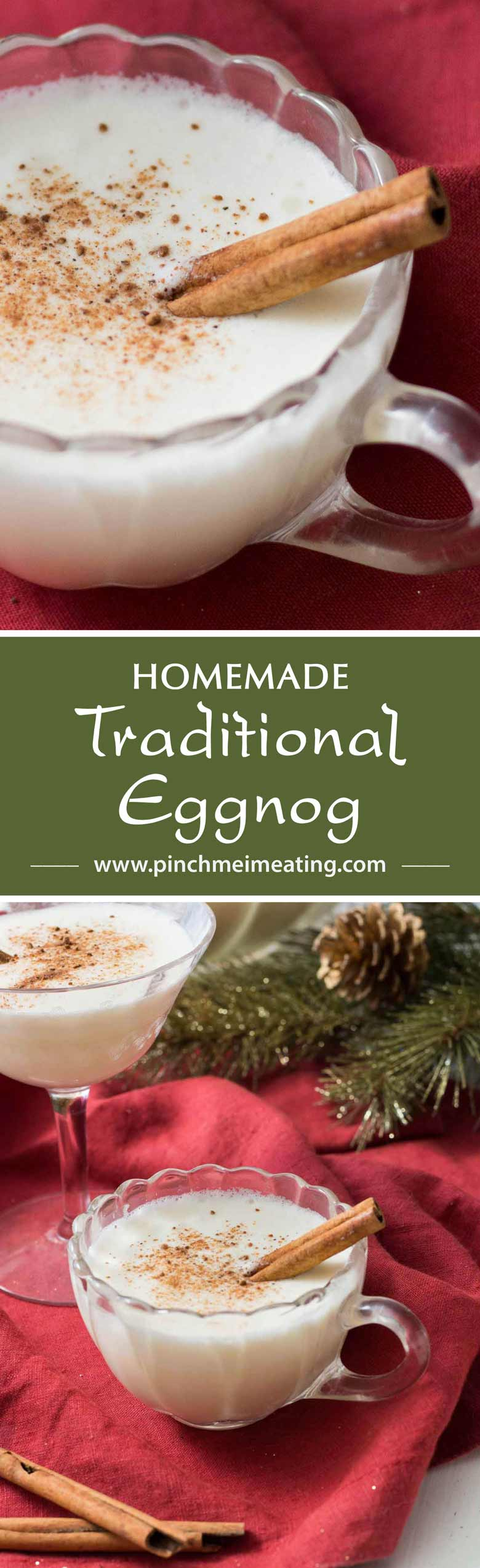 Who wouldn't want a glass of custard, meringue, and whipped cream? That's what this homemade traditional eggnog is like — plus a little booze. You'll never look back!