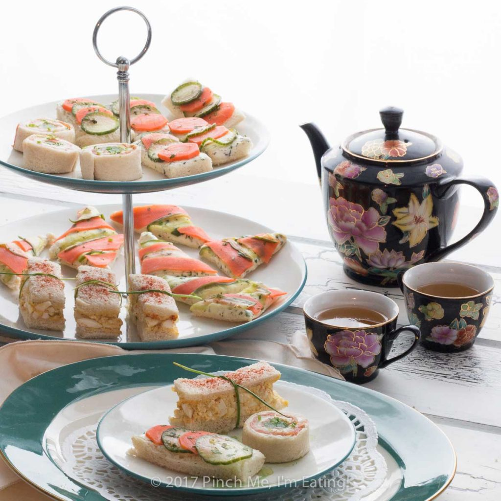 Afternoon tea recipes: tea sandwiches and finger sandwiches, scones, bite sized sweets, and spreads for your tea party or high tea!