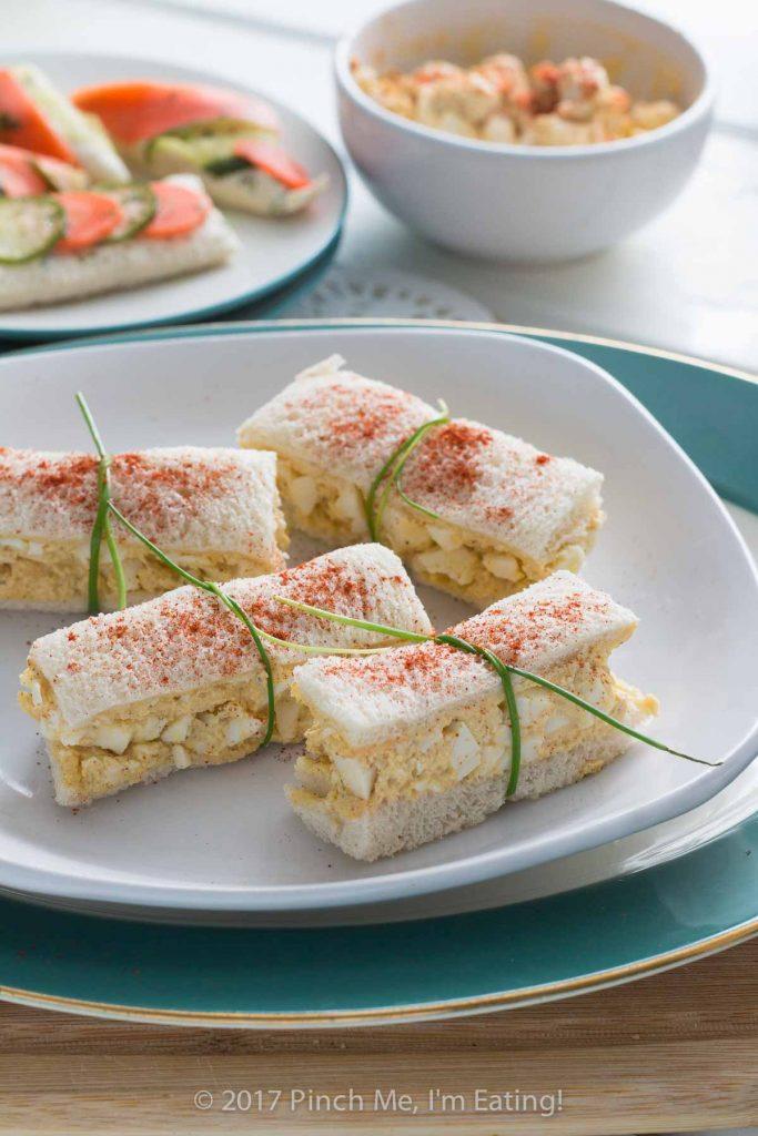 Deviled Egg Salad Finger Sandwiches Pinch Me Im Eating