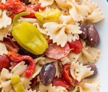 This Greek pasta salad is everything a pasta salad should be: light, flavorful, and full of ingredients you'll love! Perfect for a potluck, picnic, or party!