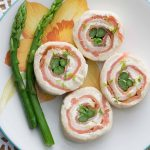 Asparagus and smoked salmon pinwheels with lemon chive cream cheese are the perfect tea sandwiches: beautiful, elegant, and flavorful! They're my favorite finger sandwiches!