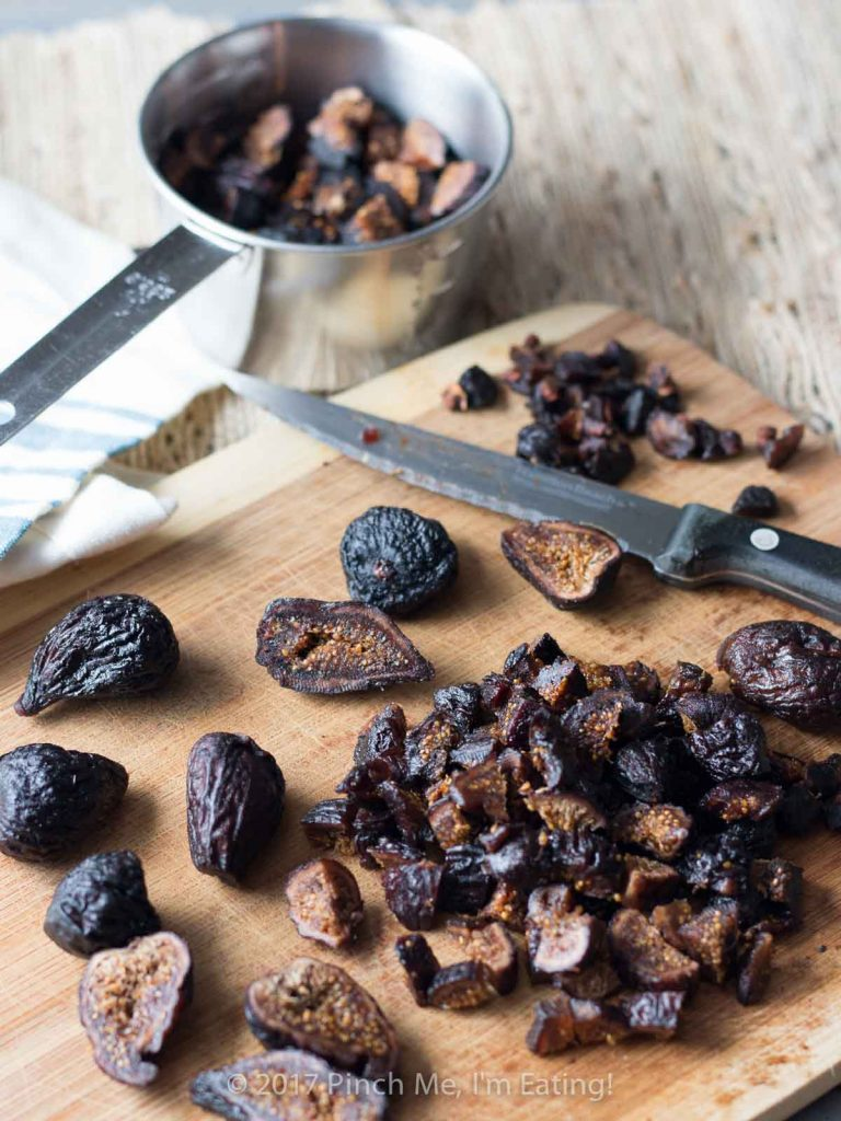 This velvety fig and olive tapenade makes an easy and elegant appetizer for a party or a date night in! You can pre-assemble it with cream cheese and walnuts on crostini or serve it spooned over cheese for guests to spread themselves.