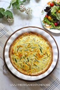 Spring Quiche with Asparagus and Artichoke Hearts | 24 Recipes for a Casual Easter Potluck