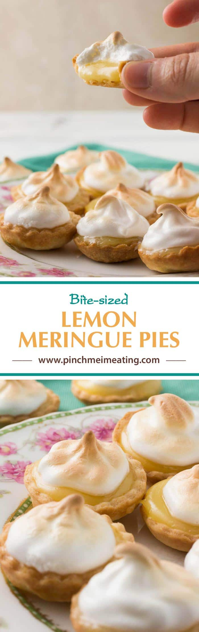 These bite-sized mini lemon meringue pies are a charming and adorable dessert for a springtime or Mother's Day tea party! You can use homemade or store-bought lemon curd.   How to use lemon curd   Mother's Day desserts   Afternoon tea desserts   Afternoon tea recipes