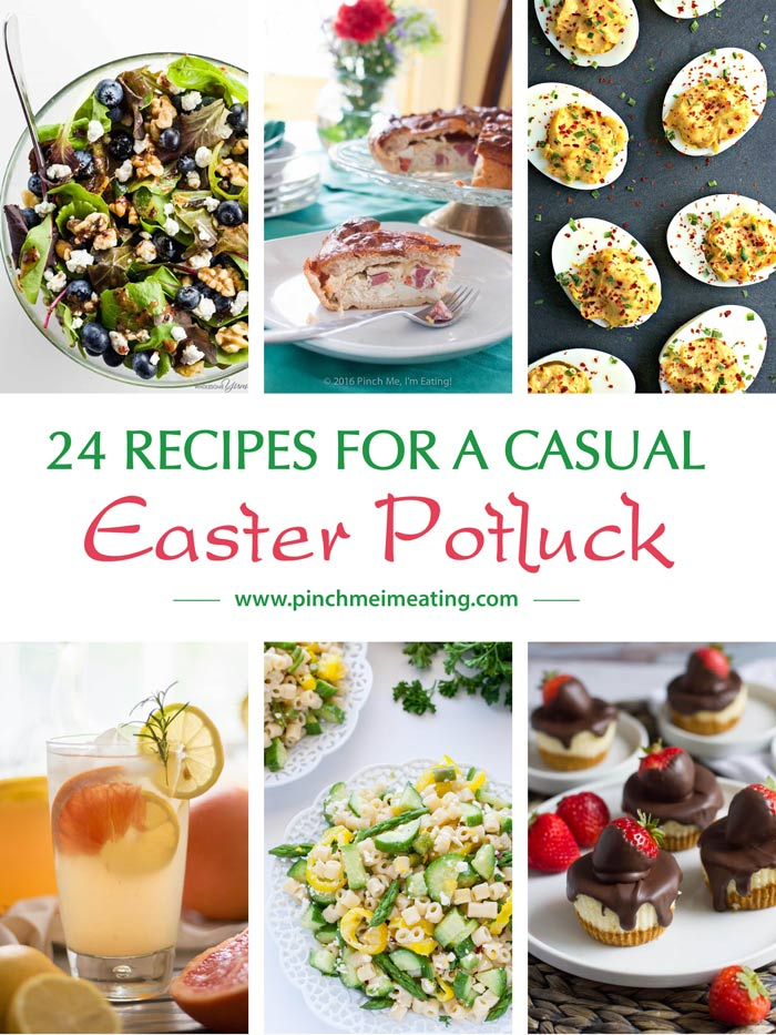 You'll know just what to make with these 24 recipes for an Easter potluck or casual Easter lunch, whether you're hosting or attending! Easter menu | Spring potluck menu
