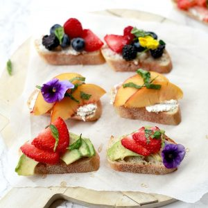 White Balsamic Fruit Crostini | 24 Recipes for a Casual Easter Potluck