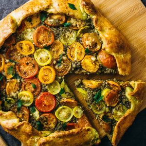 Savory Galette with Pesto and Heirloom Tomatoes | 24 Recipes for a Casual Easter Potluck