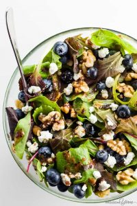 Spring Mix Salad with Blueberries, Goat Cheese, and Walnuts | 24 Recipes for a Casual Easter Potluck