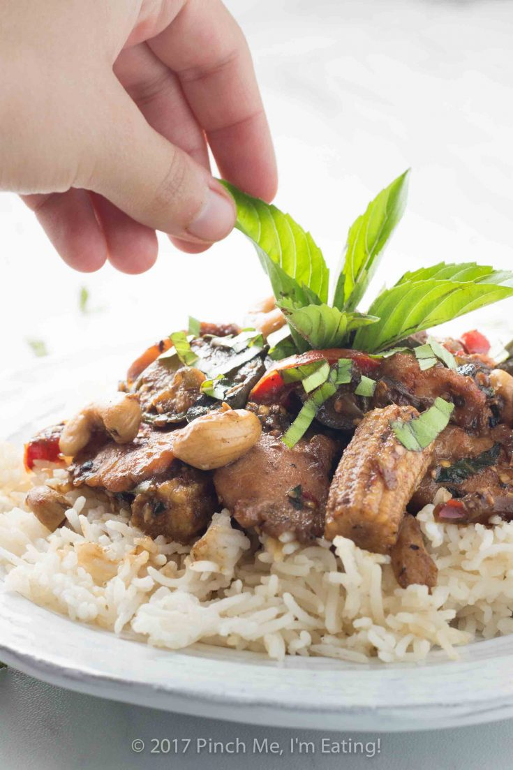 Cinnamon Basil Chicken and Thai Eggplant Stir Fry