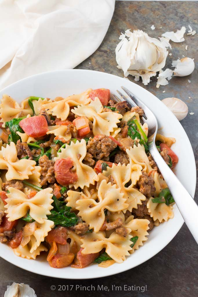 Italian Sausage Pasta with Tomato Cream Sauce | Pinch me ...