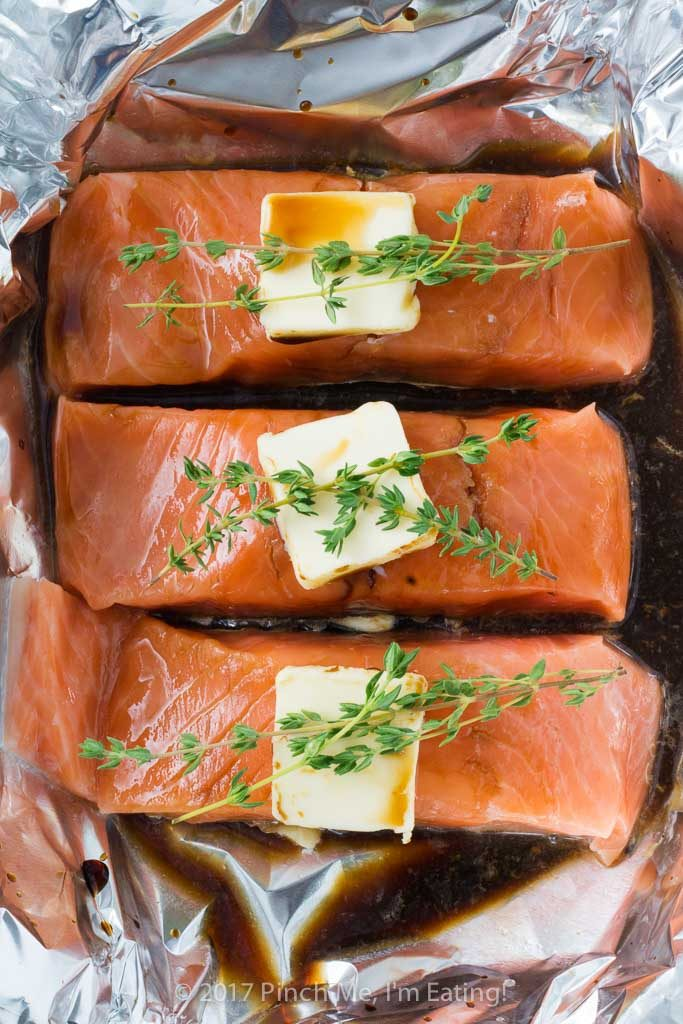 Easy enough for a lazy weeknight meal and fancy enough for company, this lemon soy foil packet salmon only takes 5 minutes to assemble and is the perfect dinner for any occasion!