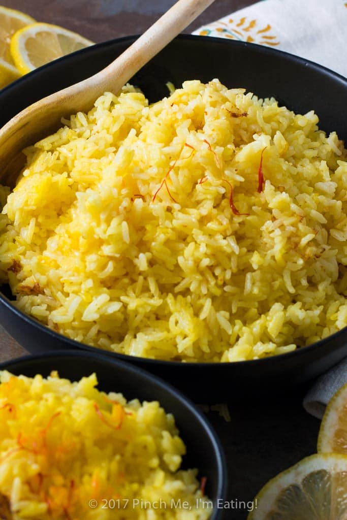 Rice Cooker Saffron Rice Pinch Me I M Eating