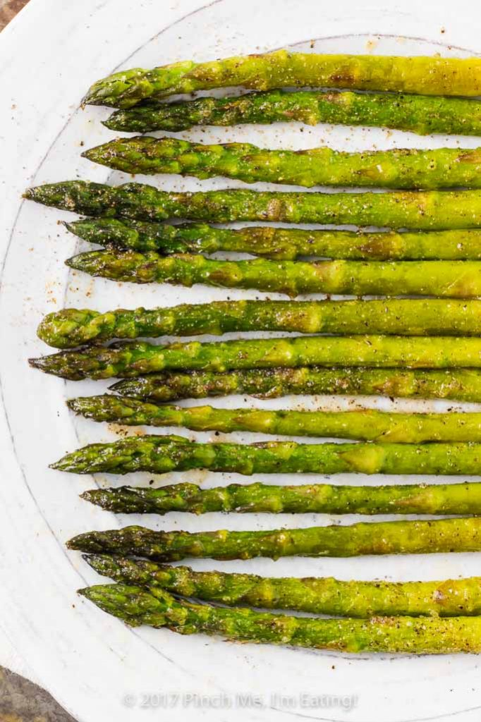 Sweet onion oven roasted asparagus