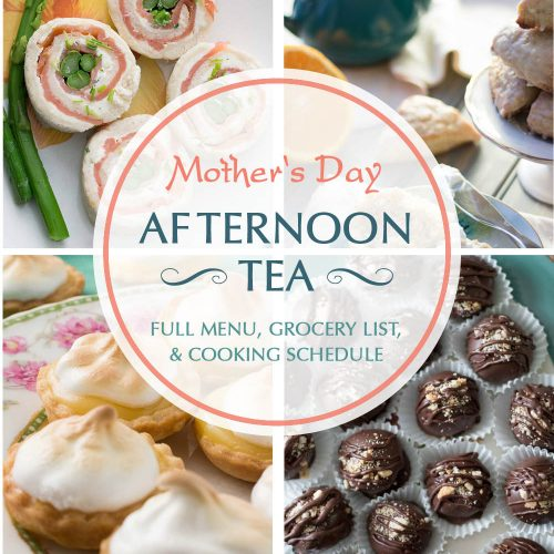 Take the hard work out of planning a Mother's Day afternoon tea with this full menu, step-by-step cooking schedule, and consolidated grocery list. You'll even have time to relax before your guests arrive!