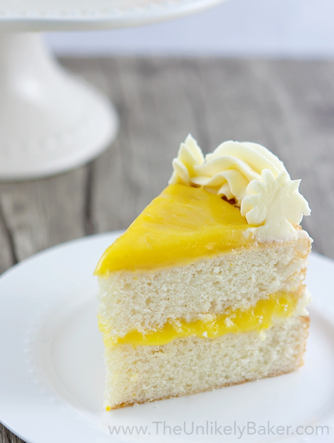 Lemon Cake with Lemon Curd Filling and Lemon Buttercream