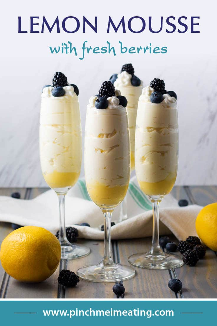 If you're looking for a light, easy, and elegant make-ahead dessert for summer, this lemon mousse with fresh berries might just be what you're looking for!