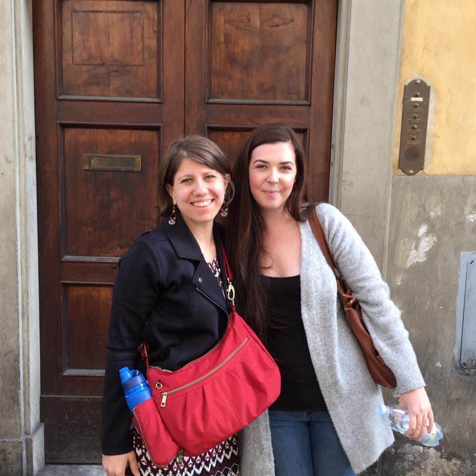 Caroline and Emily in Florence, Italy