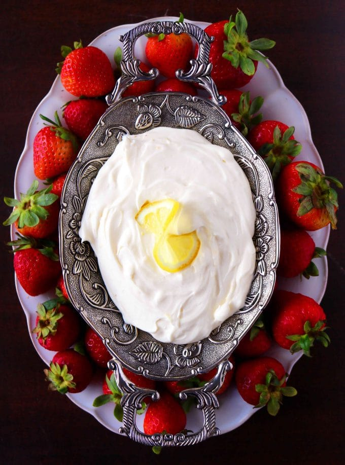 Yogurt Fruit Dip with Lemon