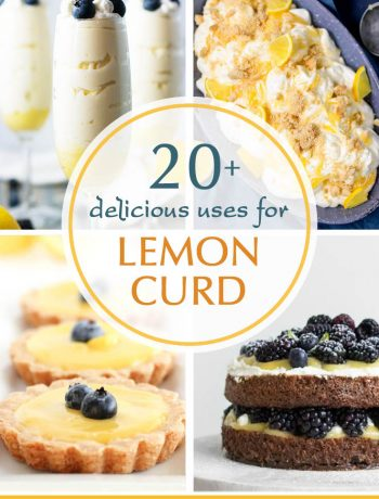 Do you have some store-bought or homemade lemon curd and aren't sure what to do with it? Here are 20+ delicious uses for lemon curd to help you out!