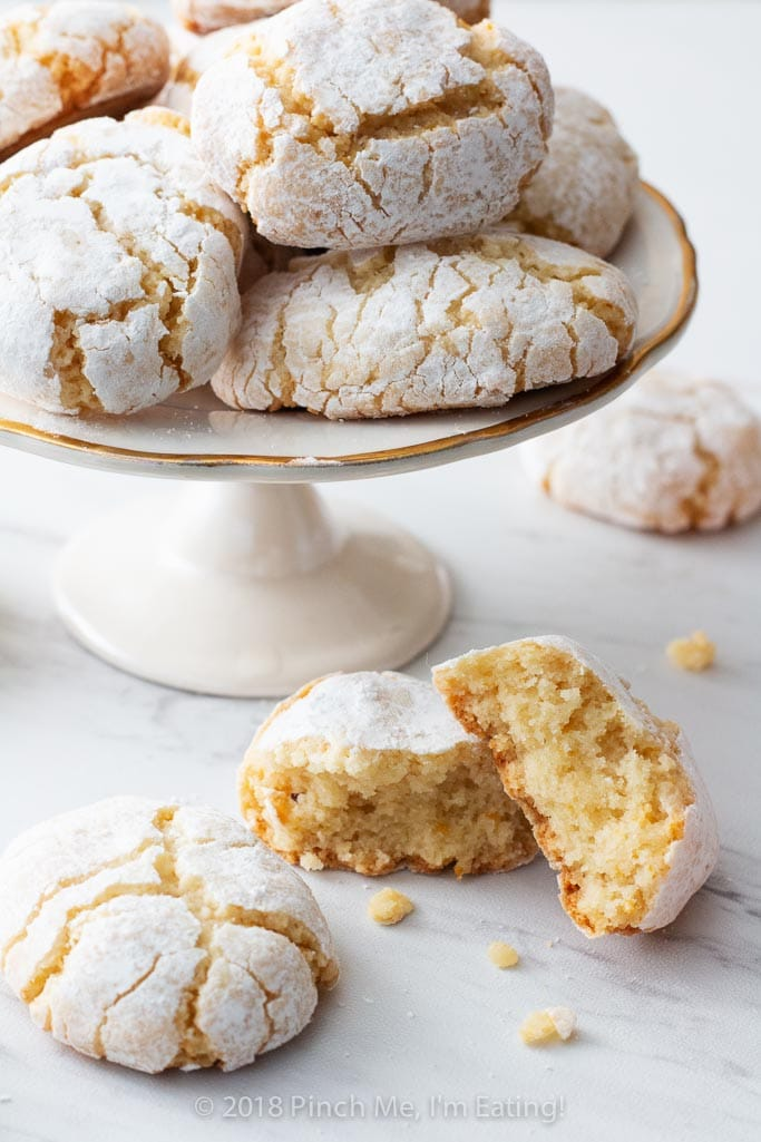 Ricciarelli are dense, chewy Italian almond cookies originating in Siena. They are a distant, and much less fussy, Italian cousin to the French macaron — perfect with tea or coffee!