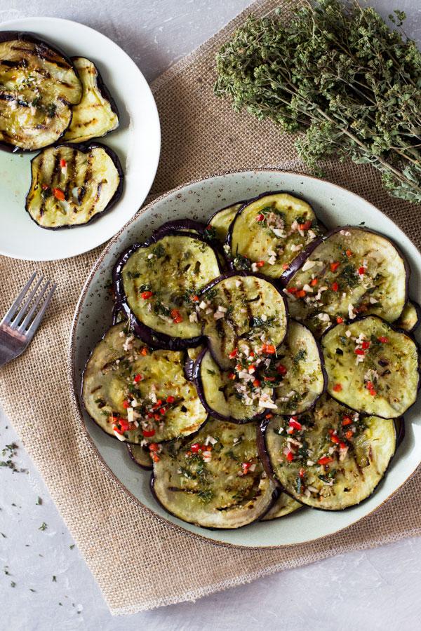 Italian Marinated Eggplant