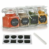 3-oz. Glass spice jars with chalkboard labels