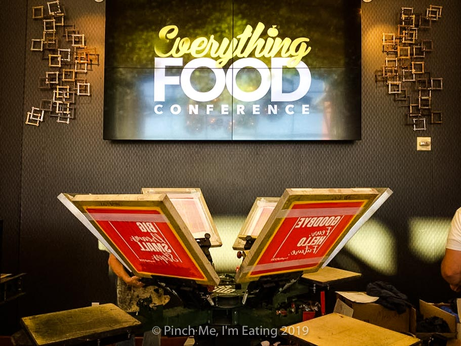 T-shirt press at the Everything Food Conference