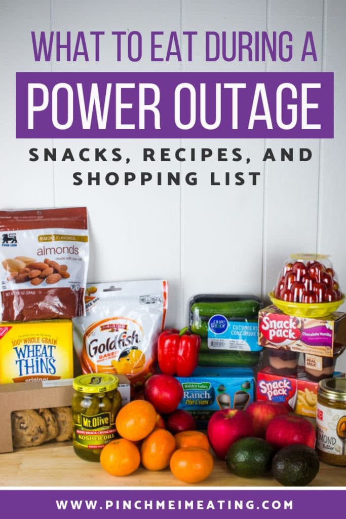 What to eat during a power outage - snacks, recipes, and shopping list