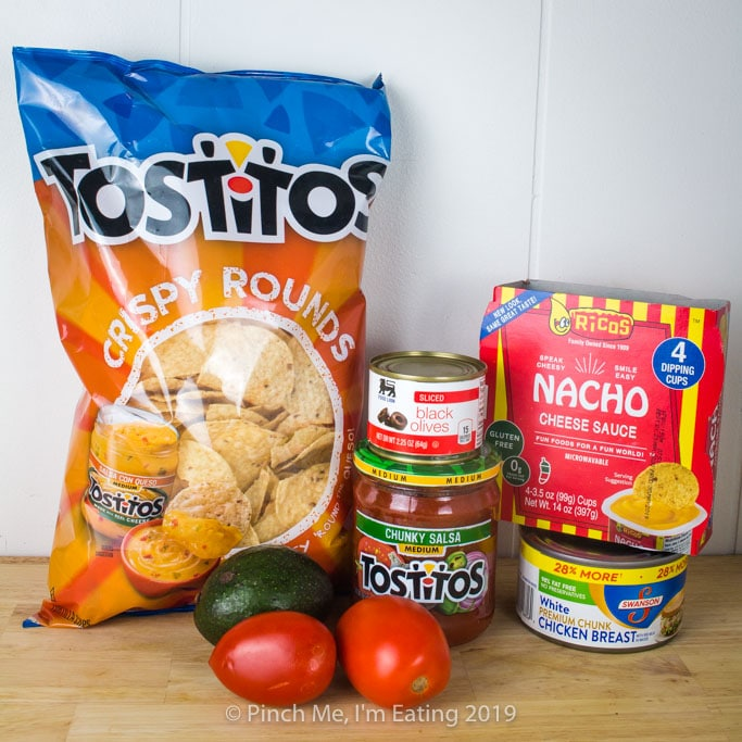 Hurricane nacho ingredients - food for a power outage