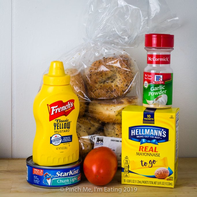 Hurricane tuna sandwich ingredients - - food for a power outage