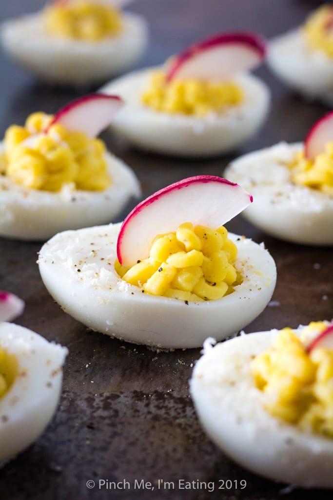 Parmesan Truffle Deviled Eggs
