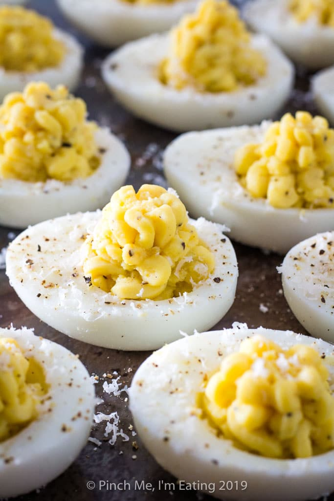 Parmesan Truffle Deviled Eggs Pinch Me I M Eating