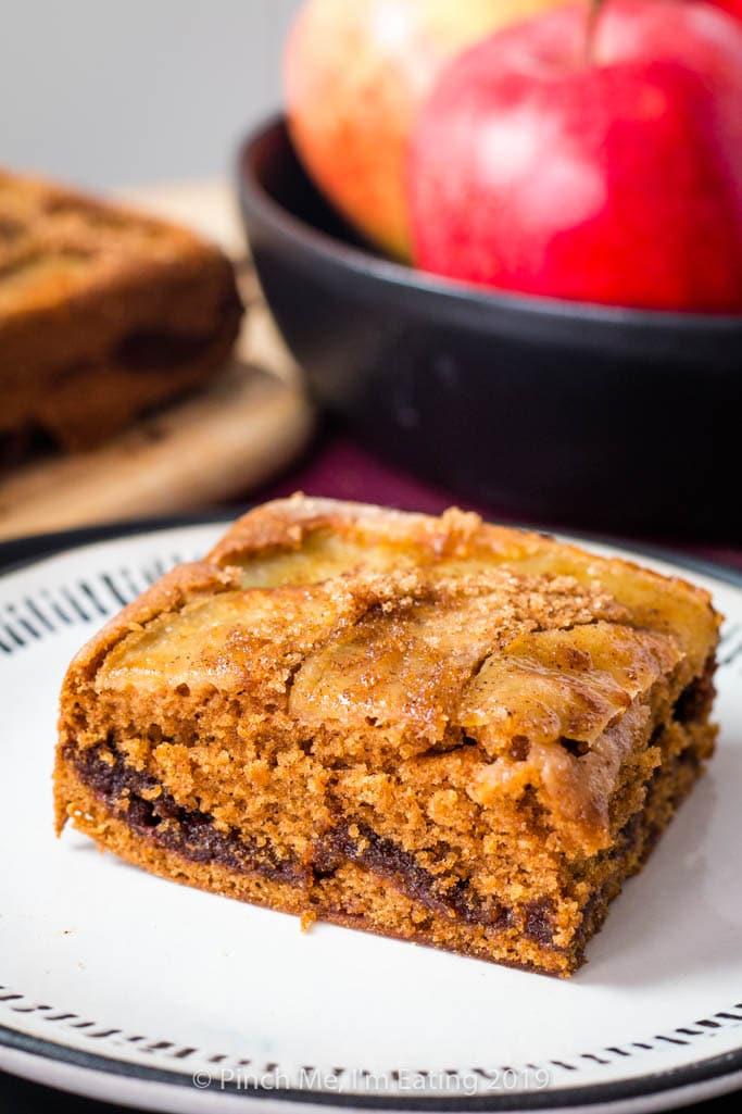 Upside Down Cinnamon Spice Apple Coffee Cake