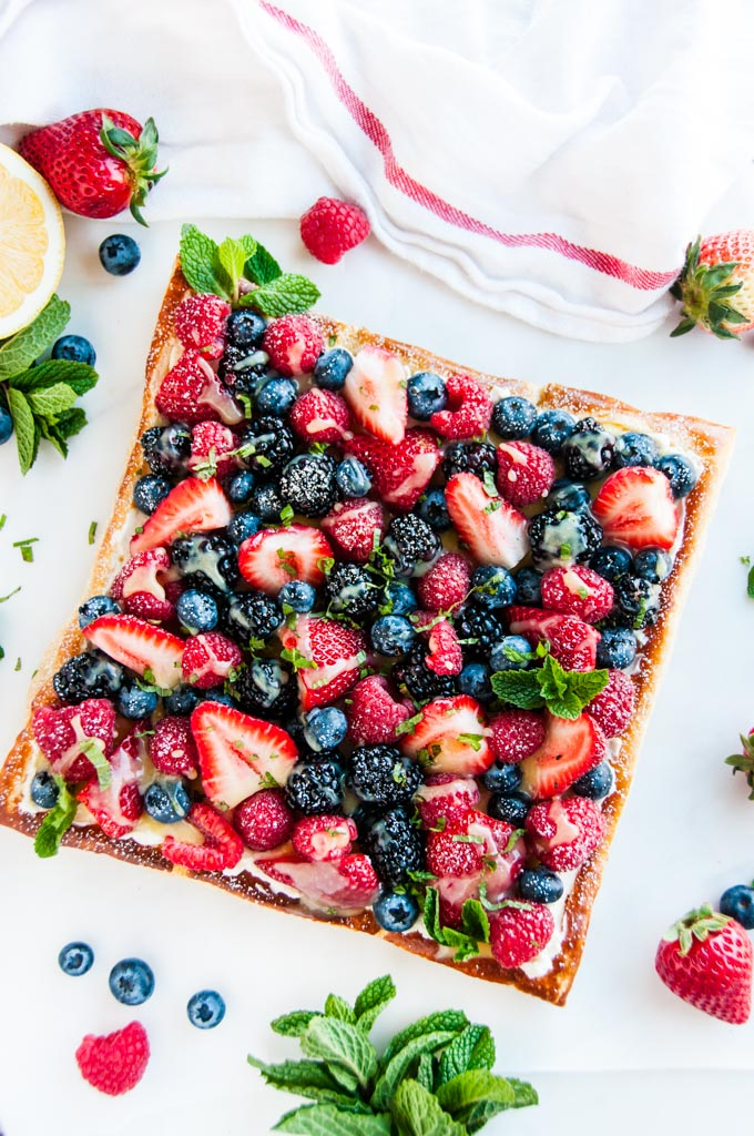 Mascarpone Cream Cheese Berry Tart with Lemon Curd