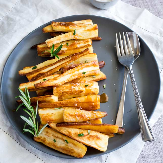 Roasted Parsnips with Salted Caramel