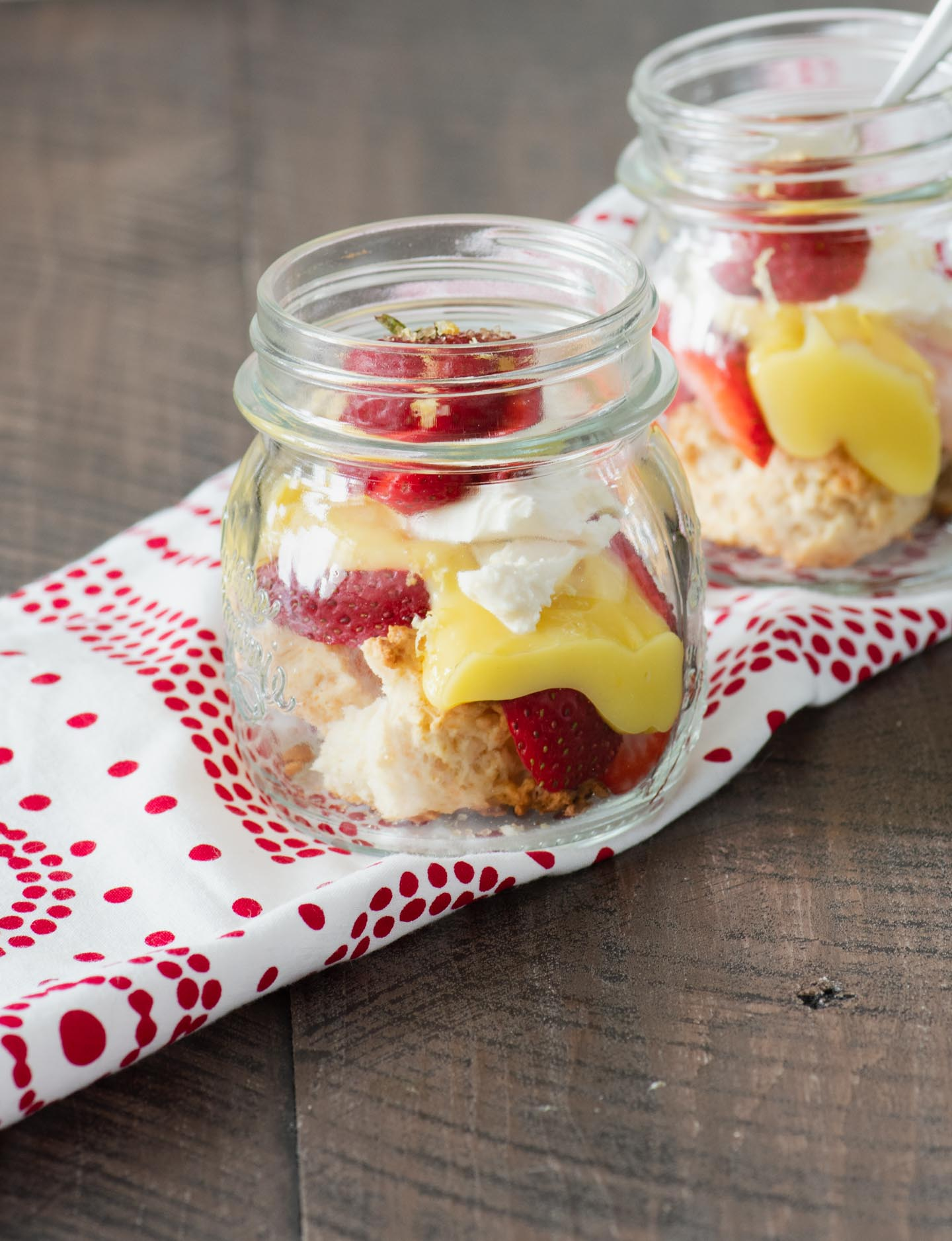 Mason Jar Strawberry Shortcake