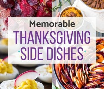 Thanksgiving side dishes collage