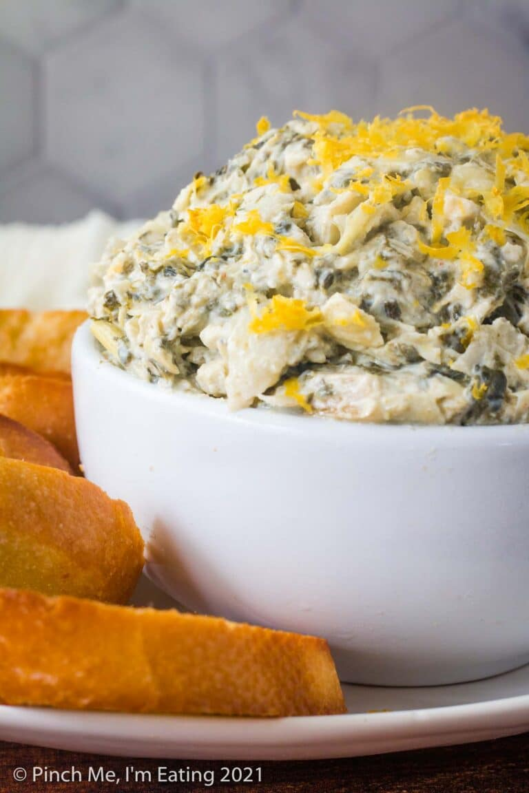 Cold Artichoke Spinach Dip with Lemon